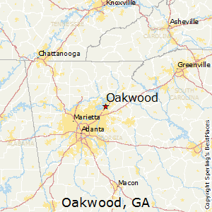 Oakwood,Georgia Map