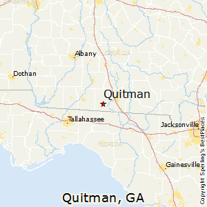 Quitman,Georgia Map