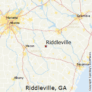 Riddleville,Georgia Map