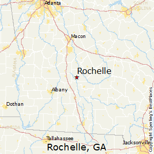 Rochelle,Georgia Map
