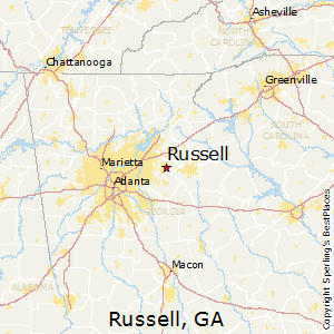 Russell,Georgia Map
