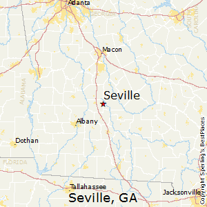Seville,Georgia Map