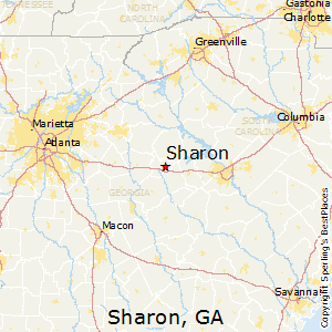 Sharon,Georgia Map