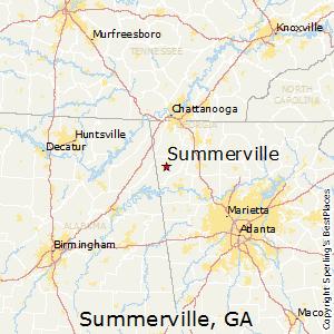 Comparison Summerville Georgia Jackson Georgia - Jackson georgia map