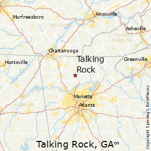 Talking_Rock,Georgia Map
