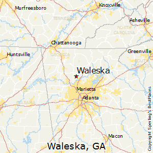 Jasper Georgia Map.Comparison Jasper Georgia Waleska Georgia