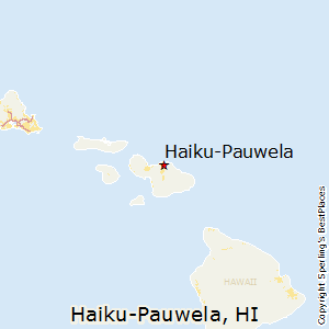 Haiku-Pauwela,Hawaii Map