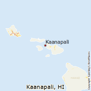 Kaanapali,Hawaii Map