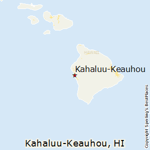 Kahaluu-Keauhou,Hawaii Map