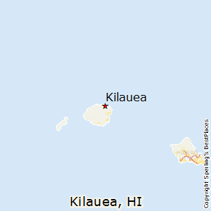 Kilauea,Hawaii Map