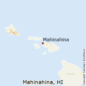 Mahinahina,Hawaii Map