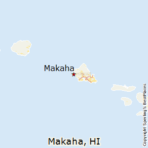 Makaha,Hawaii Map