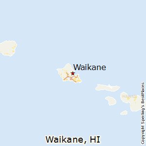 Waikane,Hawaii Map