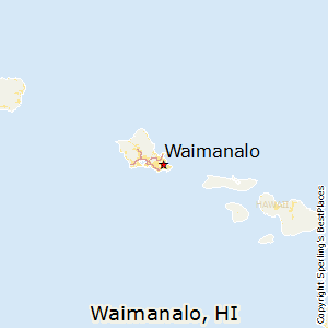 Waimanalo,Hawaii Map