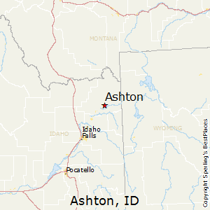 Ashton,Idaho Map