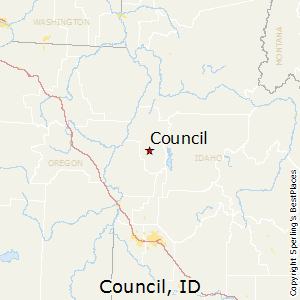Council,Idaho Map