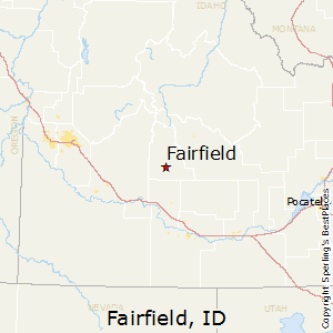 Fairfield,Idaho Map