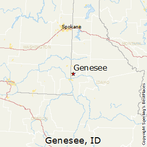 Genesee,Idaho Map