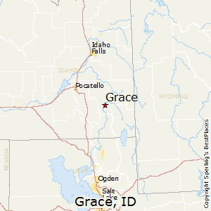 Grace,Idaho Map