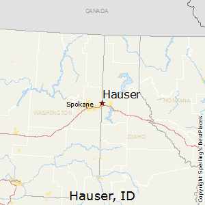 Hauser,Idaho Map