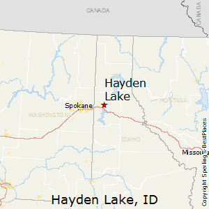 Hayden_Lake,Idaho Map