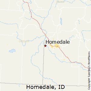Homedale,Idaho Map