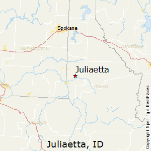 Juliaetta,Idaho Map