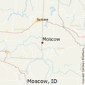 Moscow,Idaho Map