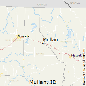 Mullan,Idaho Map