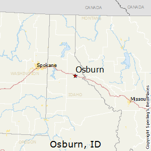 Osburn,Idaho Map