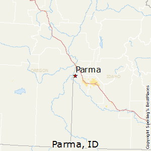 Parma,Idaho Map