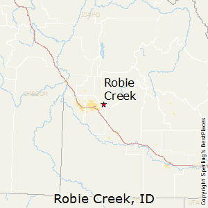 Robie_Creek,Idaho Map