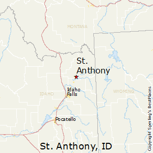 St_Anthony,Idaho Map