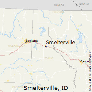 Smelterville,Idaho Map