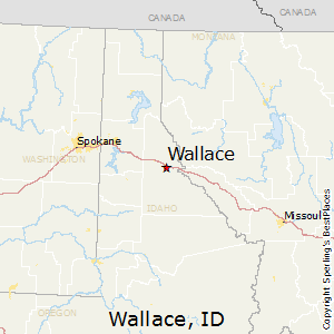 Wallace,Idaho Map