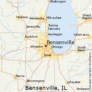 Bensenville,Illinois Map