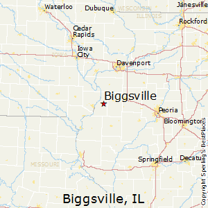 Biggsville,Illinois Map