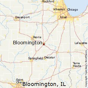 Superbe Bloomington,Illinois Map