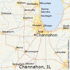 Channahon,Illinois Map