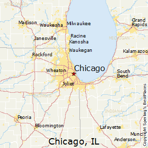 Chicago,Illinois Map