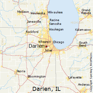 Darien,Illinois Map