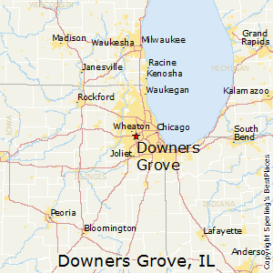 Downers_Grove,Illinois Map