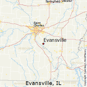 Evansville Illinois Map.Best Places To Live In Evansville Illinois