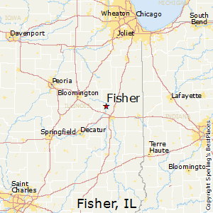 Fisher,Illinois Map