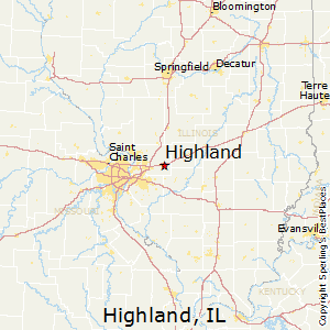 Highland,Illinois Map