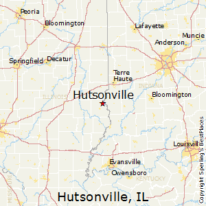 Hutsonville,Illinois Map