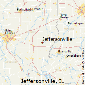 Jeffersonville,Illinois Map