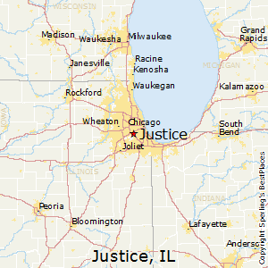 Justice,Illinois Map