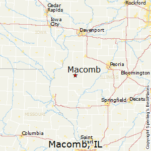 Macomb,Illinois Map