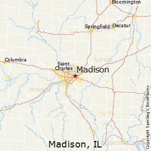 Madison,Illinois Map